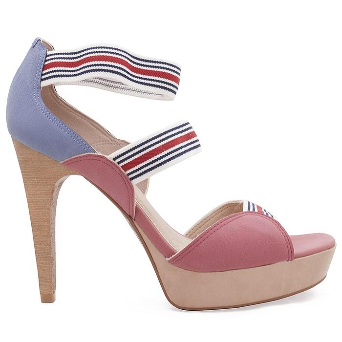 737c41f05 Sandália Número Grande - Miucha 1834 - Vermelho   Sapato Show