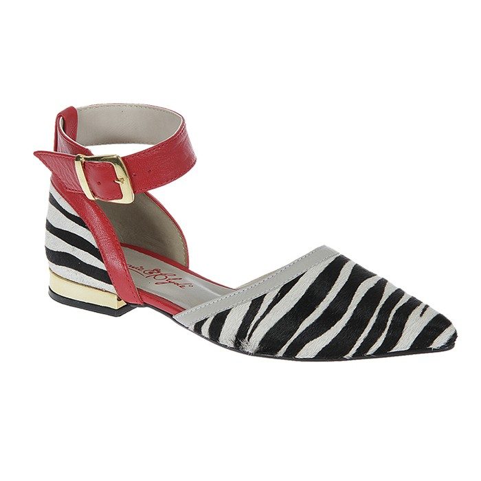 5814cfeb62 Sapatilha Estampa de Zebra Bonnie Clyde - 087 -