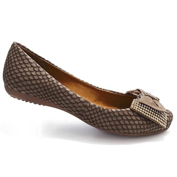 f99dfaaae Sapatilha Moda Feminina Com Laço Bottero 206208 - Brown   Sapato Show