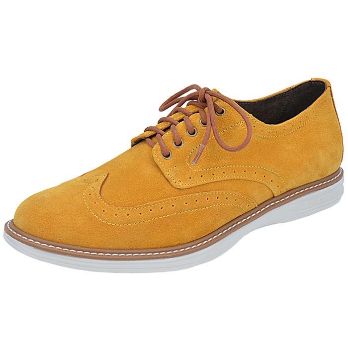 90591c6f63 Sapato Masculino Cadarço Cenci - Amarelo - 15024 -