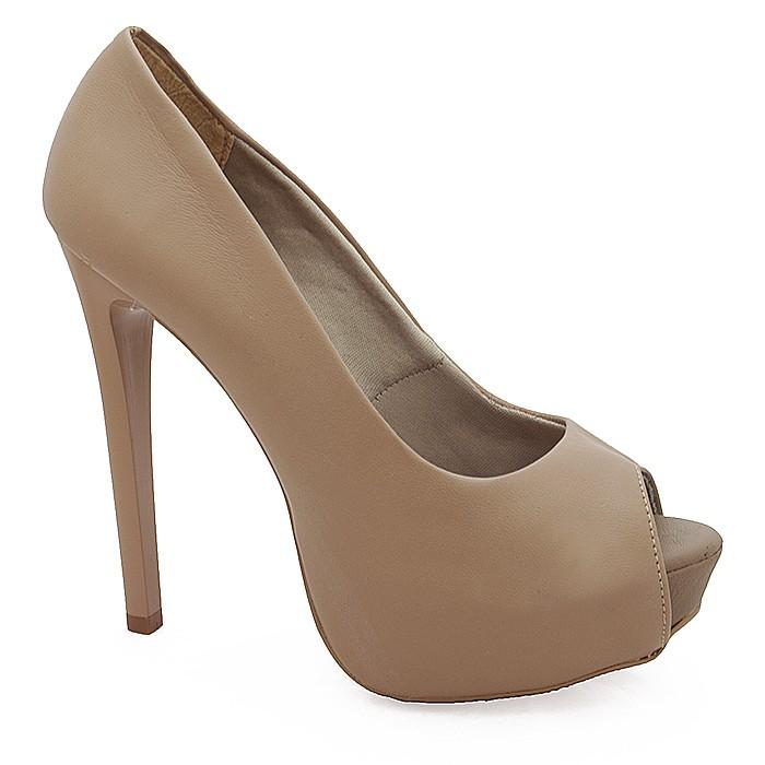 da7d48aa53 Sapato Peep Toe Feminino de Salto Alto - 2201 - Nude | Sapato Show