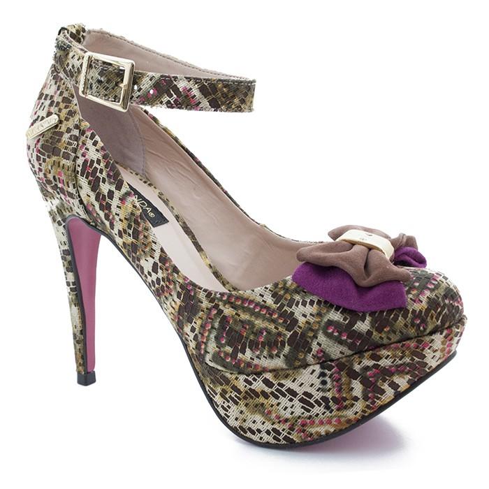 e73ba880a Sapato Scarpin Paraonda 11909 - Colorido   Sapato Show