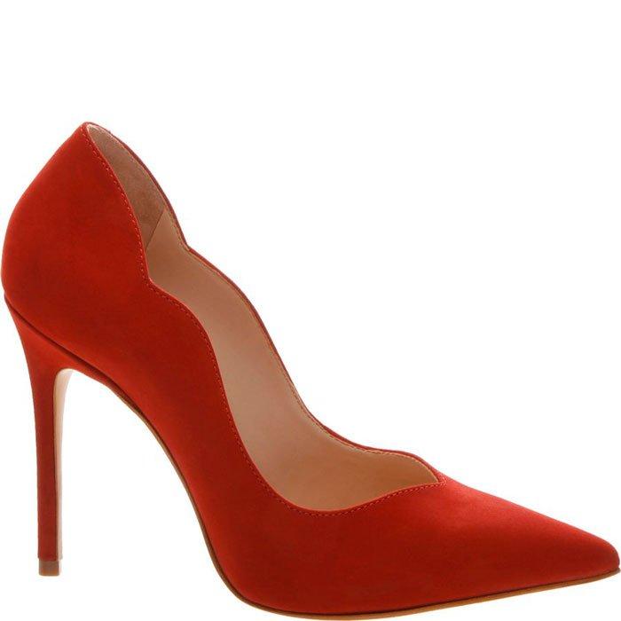 b05b9337d Scarpin Nobuck Curves Schutz S020910391 - Nobuck Vermelho | Sapato Show