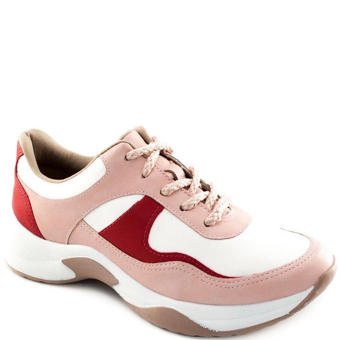 a0c5ee7ec9 Tênis Dad Sneaker Feminino Dakota G0571 - Bege Vermelho