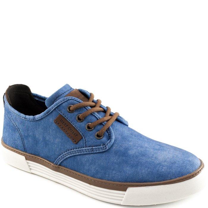 584871631 Tênis Masculino Jeans West Coast Malibu 187403 - Azul