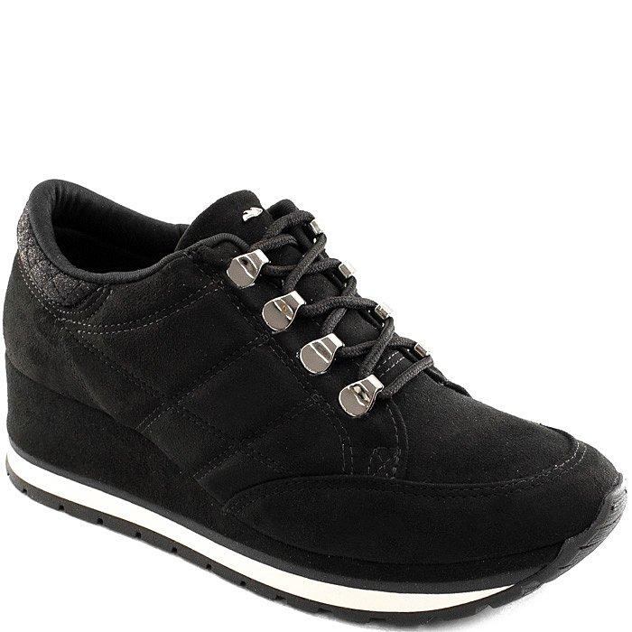 640e0828f Tênis Sneaker Salto Anabela Dakota B9751 - Preto | Sapato Show