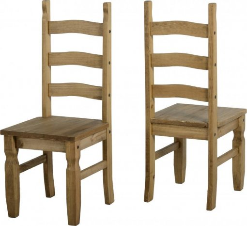 Conjunto de 2 cadeiras Corona Original*- Seconique - Madeira - Cor natural