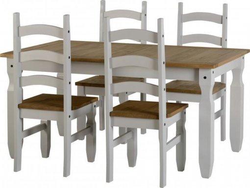 Conjunto de mesa com 4 cadeiras Corona Original* - Seconique - Madeira - Cor