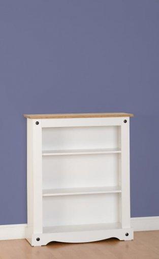 Estante para livros baixa Corona laqueado - Original Seconique* - Madeira - Cor branco