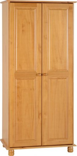 Guarda-roupa Solterio Sol Original* - Seconique - Madeira - Cor mel