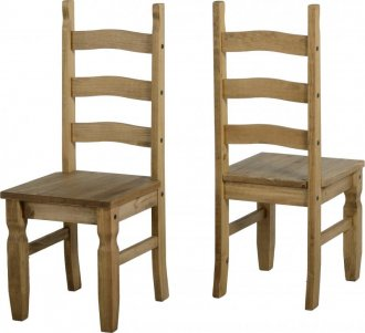 Imagem - Conjunto de 2 cadeiras Corona Original*- Seconique - Madeira - Cor natural  cód: 2021