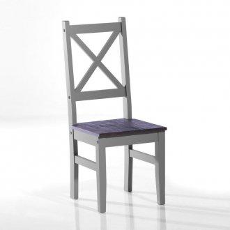 Imagem - Conjunto de 2 cadeiras Salvador - Seconique - Madeira e MDF - cor cinza rustico  cód: 104