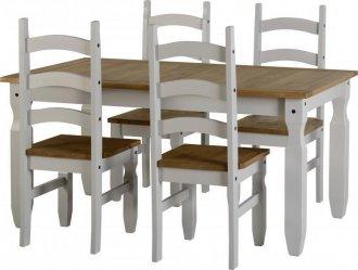 Imagem - Conjunto de mesa com 4 cadeiras Corona Original* - Seconique - Madeira - Cor cód: 3020