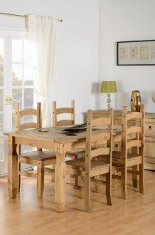 Imagem - Conjunto de mesa com 4 cadeiras Corona Original* - Seconique - Madeira cód: 2050