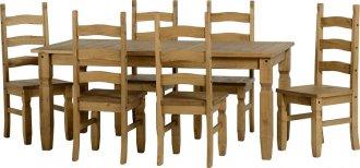Imagem - Conjunto de mesa com 6 cadeiras Corona Original* - Seconique - Madeira cód: 2051
