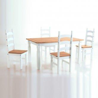 Imagem - Conjunto de mesa com 4 cadeiras Corona Original* - Seconique - Madeira - Cor cód: 3019