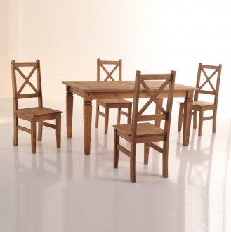 Imagem - Conjunto de mesa com 4 cadeiras Salvador - Seconique - Madeira cód: 102