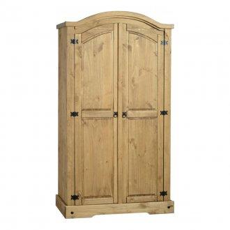 Imagem - Guarda-roupa de solteiro 2 portas Corona Original* - Seconique- Madeira - Cor natural cód: 5049