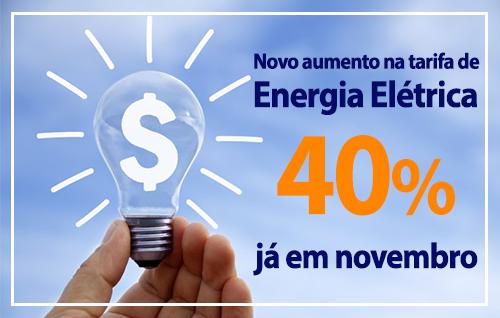 Imagem - Com a nova revisão energia elétrica irá subir mais de 40%