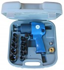 Imagem - Chave de impacto pneumática reversível com controle de velocidades, maleta e 10 soquetes - 1/2 pol. - Bremen - 14528