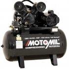 Imagem - Compressor de Ar 2 HP 10 Pés 100 Litros - Motomil - 3441