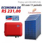 Imagem - Gerador de energia solar 11 placas - 2,97 kWp - WEG - WEGESF297