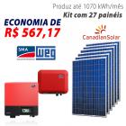 Imagem - Gerador de energia solar 27 placas - 7,29 kWp - WEG - WEGESF594