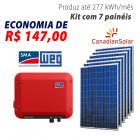 Imagem - Gerador de energia solar 7 placas - 1,89 kWp - WEG - WEGESF189