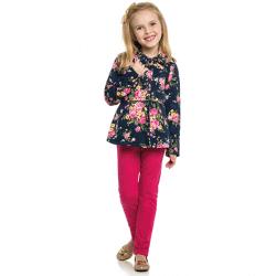Agasalho Elian Infantil Menina Casaco Floral 30977