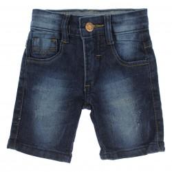 Bermuda Jeans Byla e Boby Infantil Menino Bolso Puido 29153
