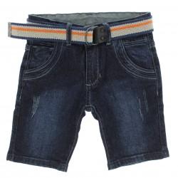 Bermuda Jeans Byla e Boby Infantil Menino com Cinto 29158