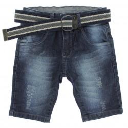 Bermuda Jeans Byla e Boby Infantil Menino com Cinto 29159