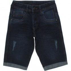 Bermuda Jeans Frommer Menino Barra Virada Com Bolsos 31868