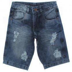 Bermuda Jeans Frommer Menino Destroyed Bolsos 31869