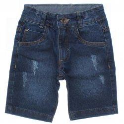 Bermuda Jeans Jump Club Infantil Menino Puido e Bolso 31866