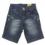 Bermuda Jeans Pull-ga Infanitl Juvenil Menino Bigodinho Bols