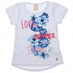 Blusa Infantil Colorittá Love Summer Strass 31954