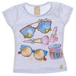 Blusa Infantil Colorittá Óculos e Acessórios Strass 31602