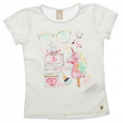 Blusa Infantil Colorittá Unicornio Fashion Strass 31960