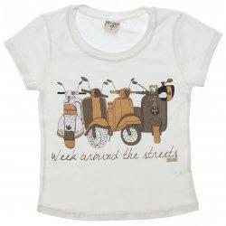 Blusa Infantil Have Fun Menina Motocicletas Tachas 31735