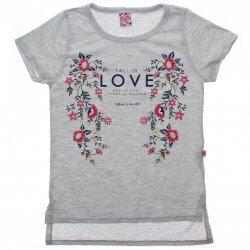 Blusa Juvenil Menina Livy Love Relevo e Flores 31790
