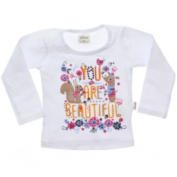 Blusa Manga Longa Infantil Elian You Are Beautiful 30987