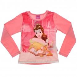 Blusa Princesas Disney Menina Estampa Bela Glitter 31072