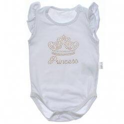 Body Curto Paraíso Bebê Menina em Cotton com Strass 31685