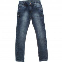 Calça Jeans Akiyoshi Juvenil Menino Puido Stonado 31397