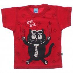 Camiseta Infantil Livy Menino Gatinho Gravata Bye Bye 31778