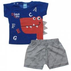 Conjunto Bebê Menino Livy Dino ABC com aplique 31768