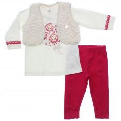 Conjunto Bebê Paraíso Menina Calça Colete Pêlo 31154