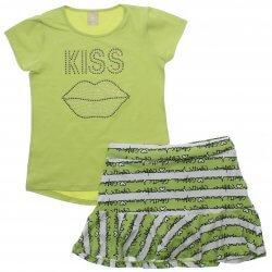 Conjunto Infantil Colorittá Saia e Blusa Kiss 31956