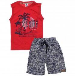 Conjunto Infantil Menino Time Kids Bermuda Estampada Sarja 31830